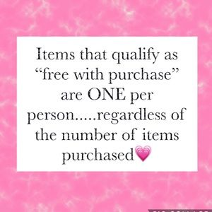 """Other - Clarification on """"free with purchase""""(FWP) items😊"""
